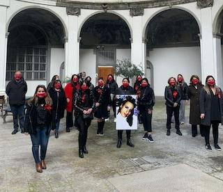 Omicidio Fortuna Bellisario, protesta davanti al tribunale per i domiciliari concessi al marito