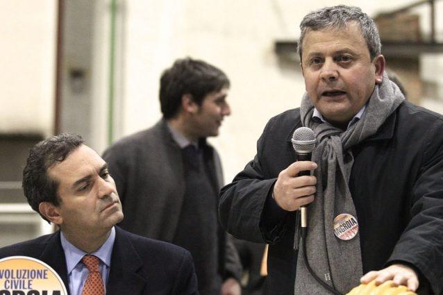 D'Angelo ad un convegno con De Magistris nel 2013