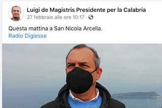 De Magistris si lamenta per la folla a Napoli. Ma sabato era in Calabria a fare campagna elettorale