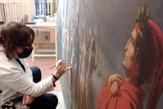 Dantedì, al Palazzo Reale di Napoli restaurati i quadri della Divina Commedia: il video