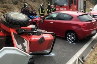 Avellino, scontro tra un trattore e un'auto: morto un 69enne di Baiano