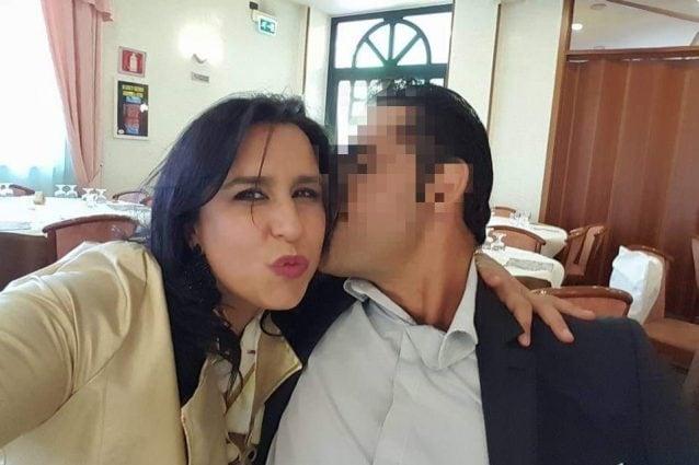 Cristina Mariconda col marito (Foto Facebook)