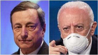 """De Luca attacca Draghi: """"Profondo disagio dopo parole su Sud, credevo ci chiedesse soldi indietro"""""""