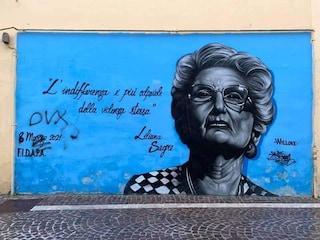 Fascisti contro il murales per Liliana Segre in Irpinia: scritta 'Dux' a poche ore dal 25 Aprile