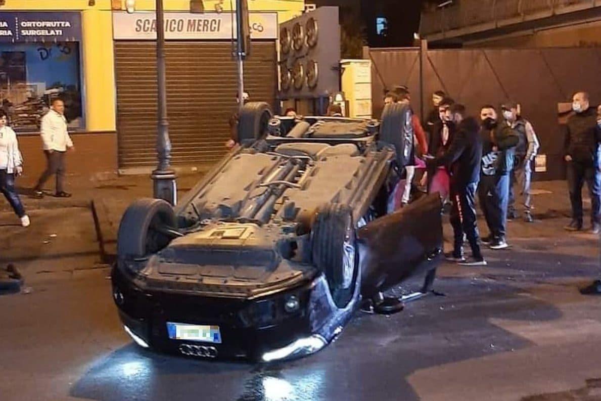 L'incidente a Qualiano (foto da Facebook)