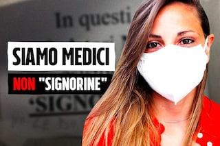 """""""Negli ambulatori non ci sono signorine ma dottoresse"""", parla Maria, il medico del cartello in ospedale"""