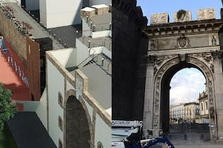La nuova Porta Capuana come sarà: ascensore panoramico e mercato con chioschi di legno