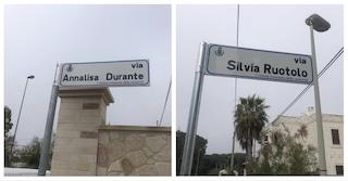 In Puglia strade dedicate ad Annalisa Durante e Silvia Ruotolo, vittime innocenti di camorra