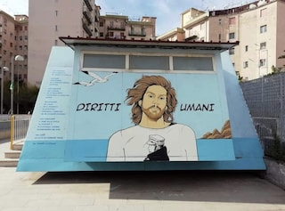 Napoli, un murales per Mario Paciolla nel campetto dedicato a Kobe Bryant
