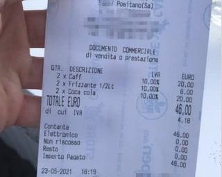 """Positano, il proprietario del bar dove il caffè costa 10 euro: """"Bastava leggere il menu"""""""