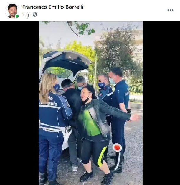 Il video pubblicato, diffuso dal consigliere regionale Francesco Emilio Borrelli