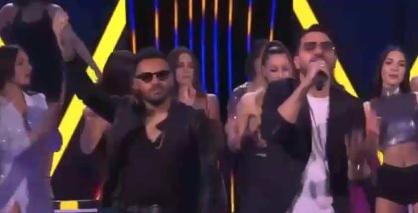 Daniele De Martino con Francesco D'Aleo nella trasmissione Felicissima Sera