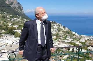 De Luca dice che l'isola di Capri ora è Covid free grazie ai vaccini