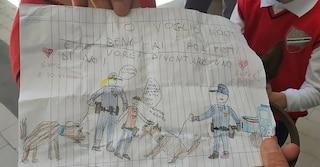 """""""Da grande voglio essere un poliziotto"""", il disegno dei bimbi di una scuola di Napoli"""