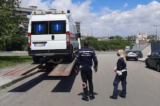 Sequestrata ambulanza di Croce San Pio a Ponticelli: era abusiva e già sottoposta a fermo