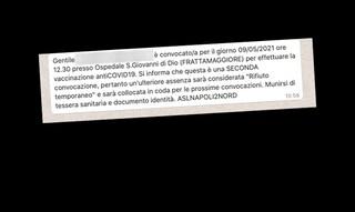 """""""L'Asl Napoli 2 dice che rifiuto il vaccino Covid, ma io l'ho già fatto"""""""