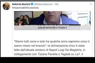 """Il virologo Burioni contro De Magistris sul vaccino Covid: """"Irresponsabile"""""""