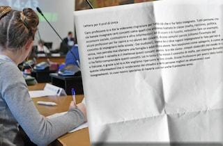"""La lettera di saluto degli studenti al prof: """"Saremo persone migliori grazie alle sue lezioni"""""""