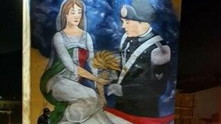 Un murale per Emanuele Reali, il carabiniere morto mentre inseguiva un ladro a Caserta