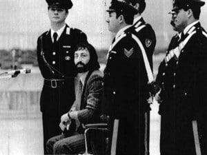 Pasquale Barra in un'aula di Tribunale
