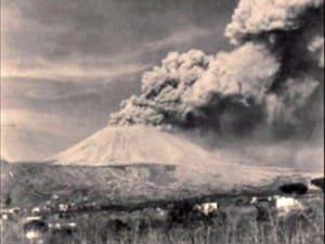 Il Vesuvio in una immagine dell'eruzione del 1944