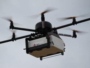 Un drone in volo. [Immagine di repertorio]