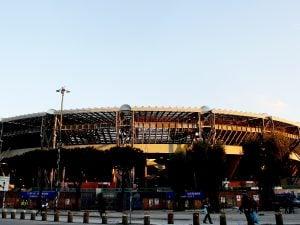 Lo Stadio San Paolo che sorge nel quartiere di Fuorigrotta di Napoli.