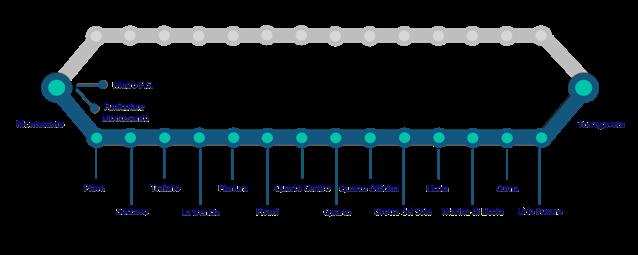 Mappa e fermate della linea Circumflegrea di Napoli