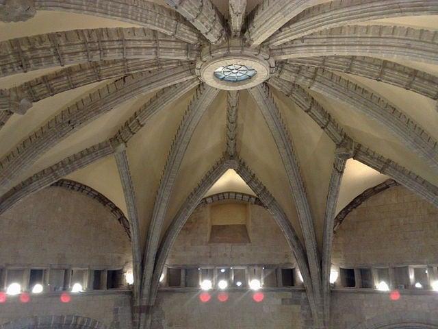 Cupola della Sala dei baroni del Maschio angioino.