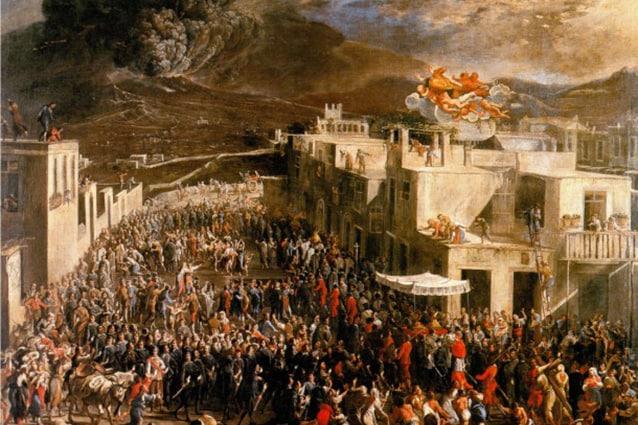 Processione di San Gennaro per l'eruzione del Vesuvio del 1631 di Micco Spadaro