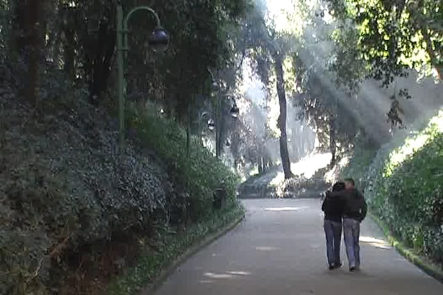Viale della Villa Floridiana di Napoli