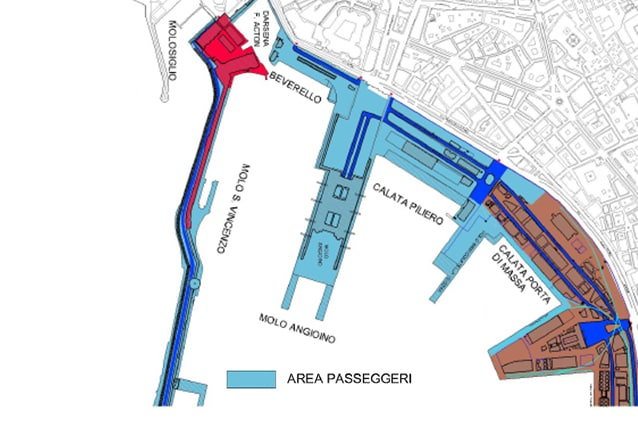 La mappa del Porto di Napoli