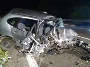Immagine dell'incidente di questa notte a Volturara Irpina.