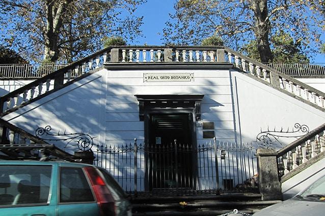 Ingresso dell'Orto Botanico di Napoli