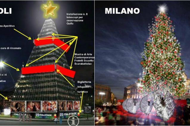 Albero Di Natale A Napoli.Se A Milano L Albero Di Natale Serve Anche A Far Beneficenza E A Napoli No