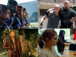 Alcuni dei film in programmazione ad aprile 2017.