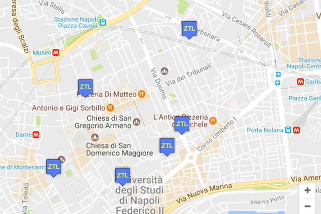 Cartina Ztl Napoli.Ztl E Isole Pedonali Del Comune Di Napoli Orari Mappe E Permessi