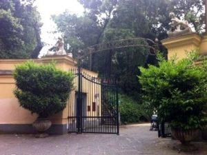 L'ingresso della Villa Floridiana al Vomero.
