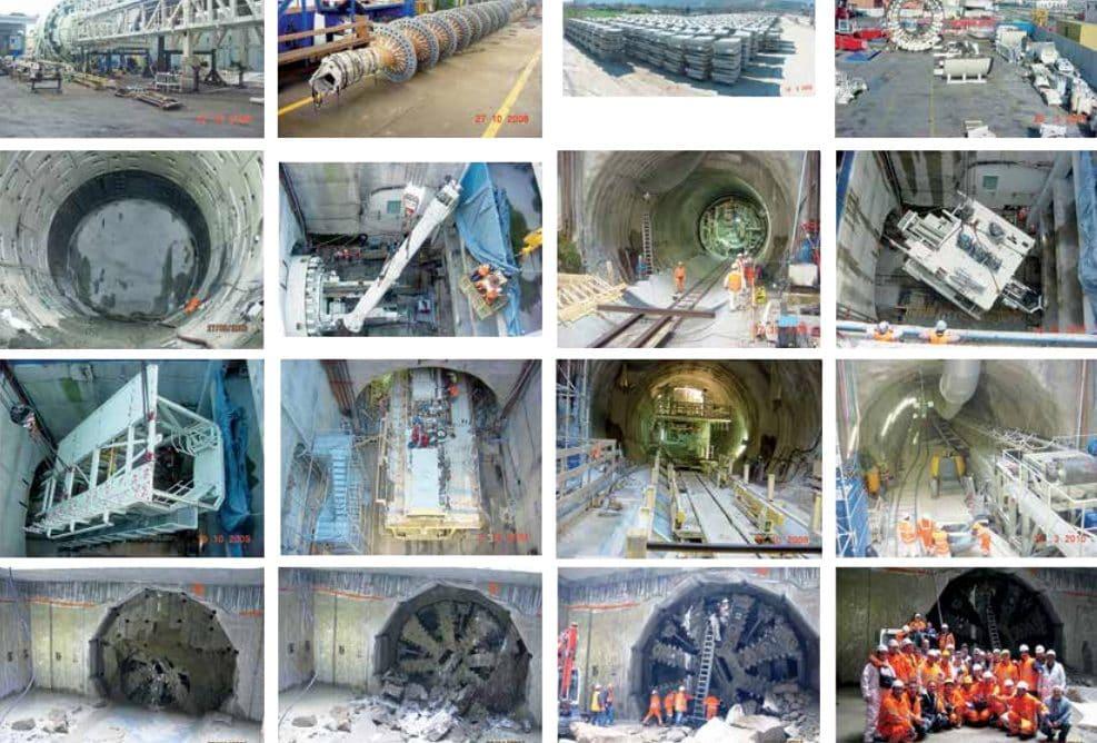 I lavori di scavo nel tunnel della ex Ltr ora Linea 6