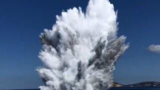Ordigni della II Guerra Mondiale nel mare di Paestum: sono stati fatti esplodere