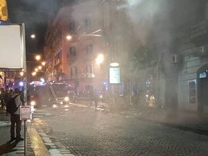 La bomba esplosa qualche mese fa in via Toledo