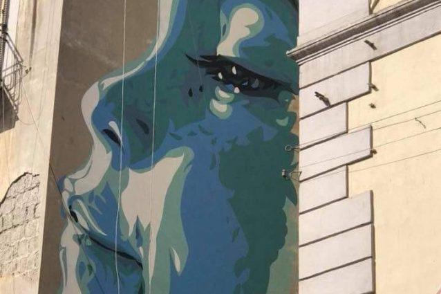 Il murales alla Pignasecca per il piccolo Mattia Fagnoni