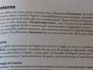 """La pagina incriminata della guida Feltrinelli """"Italia del Sud e Isole"""""""