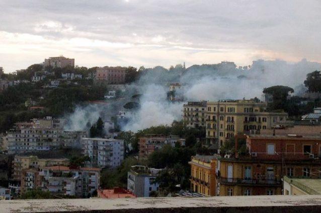 Incendio al parco Comola Ricci
