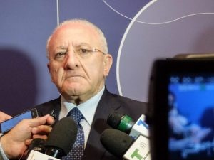 Il presidente della Regione Campania, Vincenzo De Luca.