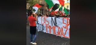 """Napoli, corteo di CasaPound al Vasto: """"No all'immigrazione clandestina"""""""