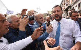 """Salvini a Napoli annuncia: """"In arrivo altri 100 agenti"""""""