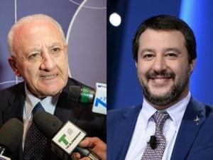Vincenzo De Luca, Matteo Salvini