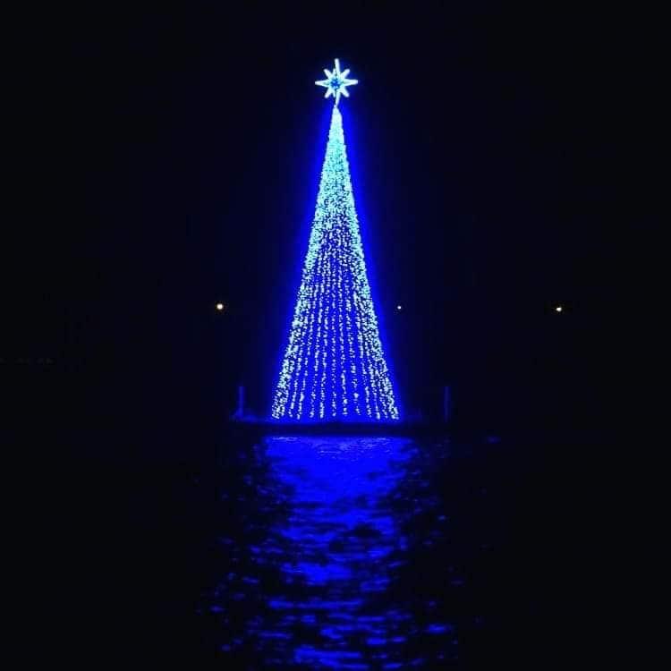 L'albero di Natale di Bacoli (Napoli).