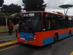 Uno dei nuovi autobus modello Citymood in dotazione all'Azienda Napoletana Mobilità.